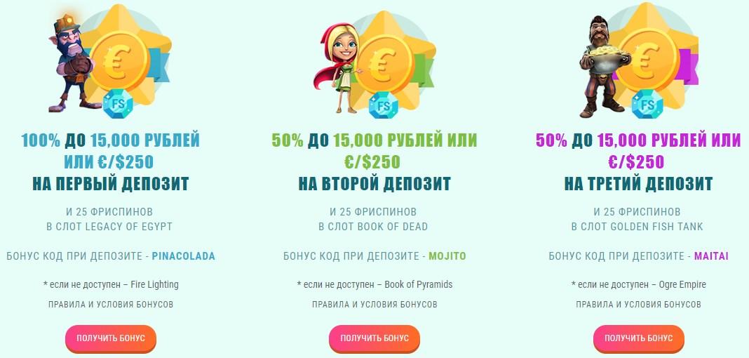 spinia бонусы и акции